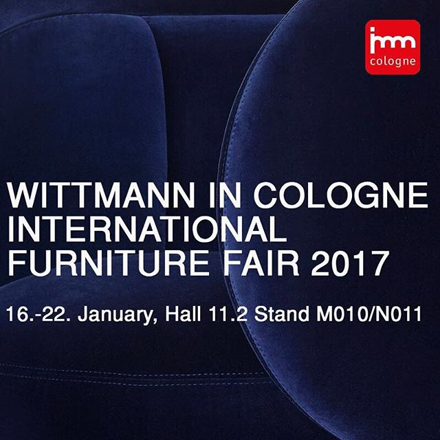 WITTMANN IN COLOGNEINTERNATIONAL FURNITURE FAIR 2017You are invited to visit us at the imm in cologne: hall 11.2, booth M010 / N011, 16. – 22. January 2017.#wittmann #jaimehayon #wittmannhayonworkshop #akiagency #cologne #vienna #wittmanndealer #architect #interieurontwerper #hotelweber #köln #immköln #design #luxuryliving #interieurdesign info@akiagency.nl0031-651561603