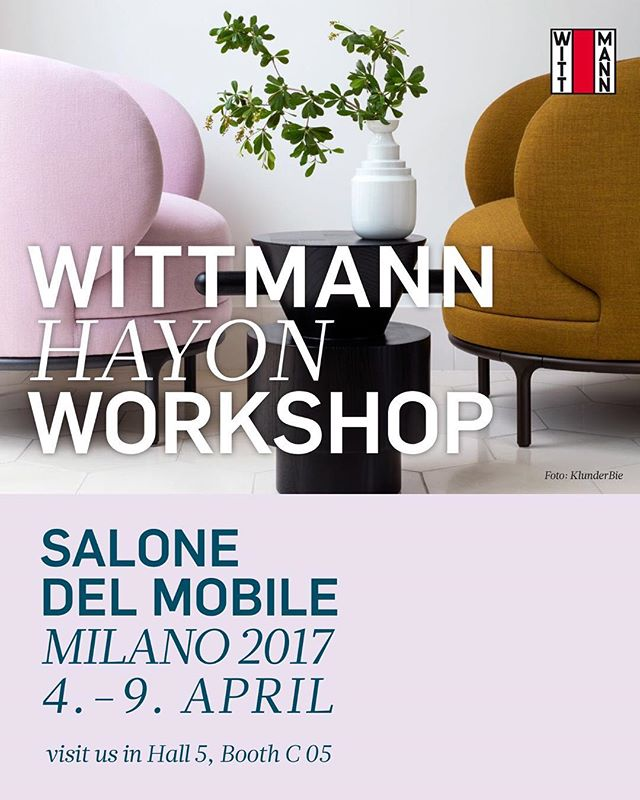 AKI AGENCY: Wittmann Hayon Workshop Salone del Mobile Milano 2017. See you next week 4.-9. April visit us in Hall 5, booth C05#wittmannofficial #wittmann #jaimehayon #hayon #wittmanhayonworkshop #milano #italy #italia #akiagency #interieurarchitect #wittmanndealer #interieurarchitect #instaliving #rhofiera #hotelinteriordesign #invitation #seeyounextweekinfo@akiagency.nl