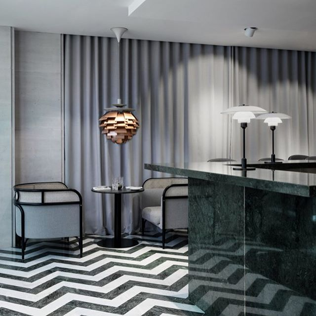 AKI AGENCY   Gebrüder Thonet Vienna 'Targa' sofa.  Flora Danica   Maison Du Danemark Paris by GamFratesi.#gtv #danemark #project #akiagency #targa #sofa #interiordesign #hotelinterior #interieurontwerp #hotel #restaurantinterior #restaurant #highend #wow #luxury #project #gebruderthonetvienna #veinna #hotelinterieurs #residencemagezine info@akiagency.nl