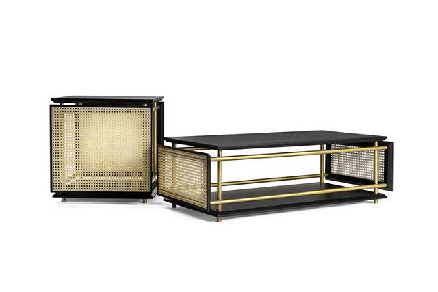 AKI AGENCY GTV: 'Wiener Box'Tavoli & Tavolini. New design by Cristian Mohaded.#gtv #gebruederthonetvienna #akiagency #vienna #wiener #interiordesign #gtvdealers #interieurontwerp #projectinrichtering #hotelinteriordesign #coffeetable #wovencane #torino #italy info@akiagency.nl0031-651561603