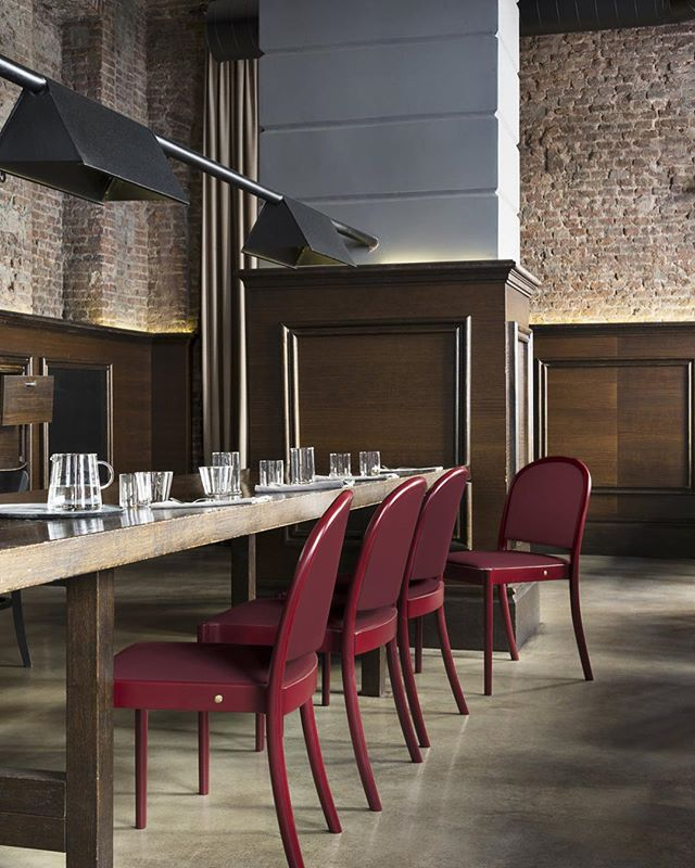 AKI | GTV : 'Ann' chair #gtv #aki #gtvdealers #gebruederthonetvienna #project #restaurantinterieurs #hotelinterieurs #projectinrichtering #interiordesign #red #origanal #italy #torino #vienna #akiagency #stockable #stapelbaar #projectstoel info@akiagency.nl0031-651561603