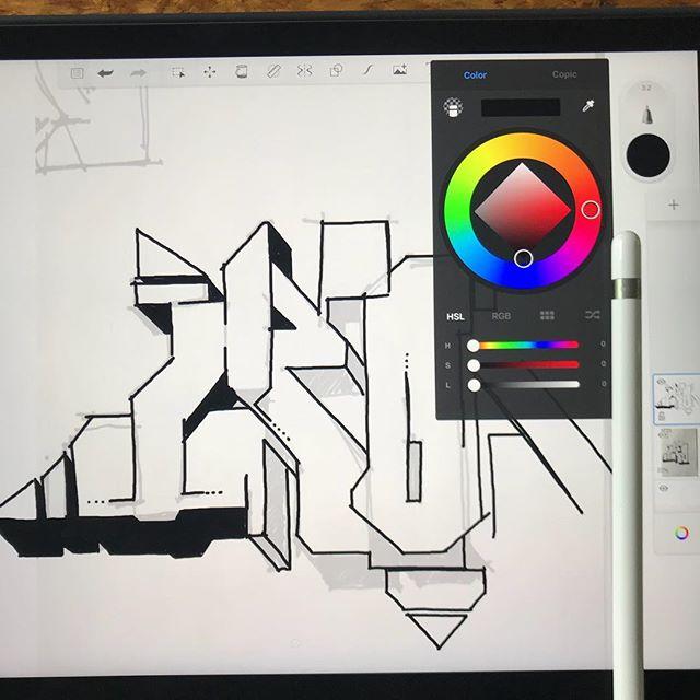 AKI - Sketching Time - #graffiti #sketching #ipadpro #qualitytime #hobby #akiagency #aki #project #sketchingtime #colors #sprayingtime  #hollandgraffiti #graffitiart info@akiagency.nl