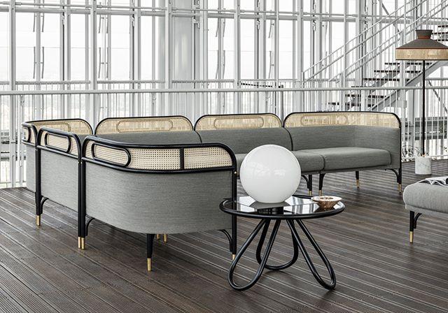 AKI GTV : Targa Modular SofaLounge Chairs & Sofa#aki #gtv #targasofa #gtvdealer #gebruderthonetvienna #projectinrichting #salonedelmobile2018 #newcollection #hotelinterior #restaurantinterieurs #vienna #torino #italy #love #this #collection #wovencane #gebruederthonetvienna info@akiagency.nl0031-651561603