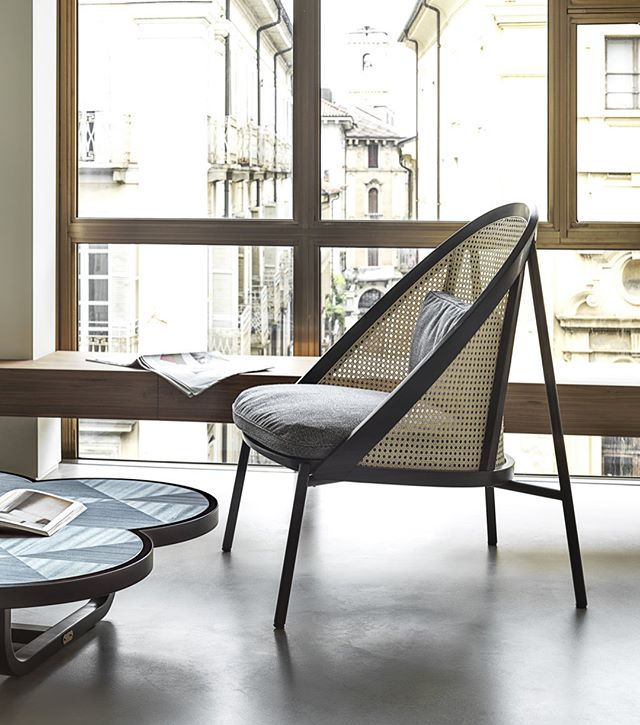 AKI | GTV : New collection 'Loïe'Lounge Chair 'Targa' system.DESIGNER: CHIARA ANDREATTI#new #collection #gtv #akiagency #salonedelmobile2018 #loïe #wovencane #gtvdealers #gebruderthonetvienna #vienna #torino #italy #projectinrichting #hotelinterieur #hotelinterieurs #newcollection #luxury #aki #love #this #collection info@akiagency.nl0031-651561603