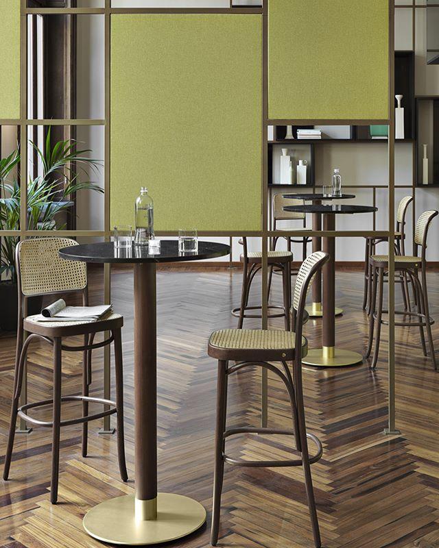 New tables 'Cognac' and 'Sherry' for GTV#gebruderthonetvienna #cognac #sherry #bartable #restaurantinterior #hotelinteriors #projectinrichting #statafel #interiordesigner #interiordesign #wooninspiratie #thonetvienna  #gtv #akiagency #gtvshowroom #gtvdealer #italy #vienna #torino info@akiagency.nl