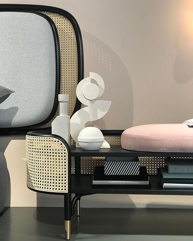 GTV | AKI at Salone del Mobile, new headboard 'Rue' and cupboard 'Mos' for Gebrüder Thonet Vienna. #gebruderthonetvienna #akiagency #salonedelmobile2019 #interiordesign #hotelinterior #interieurontwerp #projectinrichting #new #interieurarchitect info@akiagency.nl