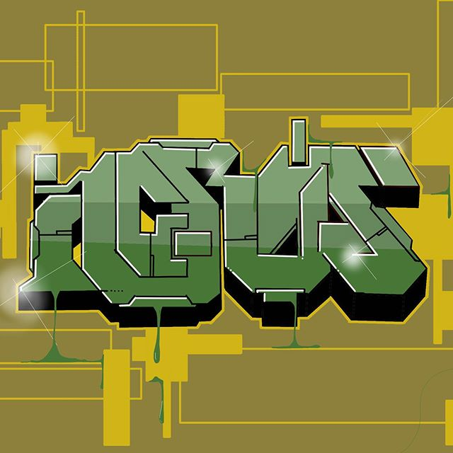 AKI sketching time... #aki #sketching #graffiti #ipadpro #oldskool #painting #graffitiart #graff #streetart
