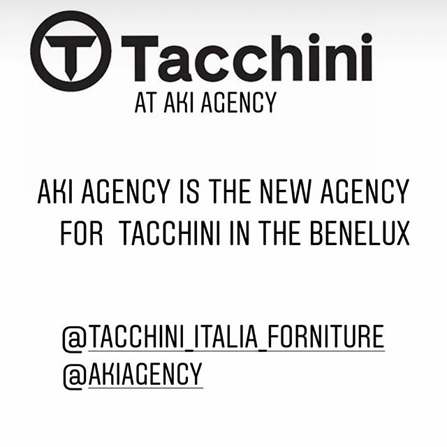 AKI AGENCY | TACCHINI : Tacchini furniture now at AKI agency for the BeNeLux. Proud with this new collection. #akiagency #tacchiniitaliaforniture #benelux #new #collection #agency #tacchini #italy #belgium #architects #netherlands #Luxemburg #lovefurniture #interiordesign #interieurarchitectuur #interior #iconcollection #studiopepe #Info@akiagency.nl